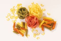 Colored Noodles - Farbige Nudeln Royalty Free Stock Photos