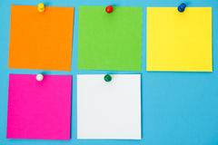 Colored Note Squares Royalty Free Stock Photos