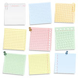 Colored Notebook Paper Royalty Free Stock Image