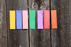 Colored notepad Stock Photography