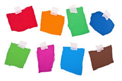 Colored notes isolated stock photo