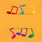 Colored notes Royalty Free Stock Images