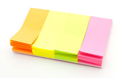 Colored notes paper Royalty Free Stock Images