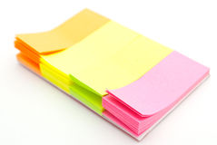 Colored notes paper Stock Images