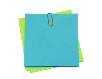 Colored notes paper isolated on white Royalty Free Stock Photos