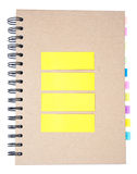 Colored notes paper Stock Photos