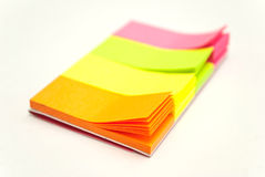Colored notes papers Royalty Free Stock Image