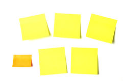 Colored notes sticky papers Stock Photos