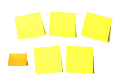 Colored notes sticky papers Royalty Free Stock Photography