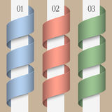 Colored numbered ribbons-banners Royalty Free Stock Photography
