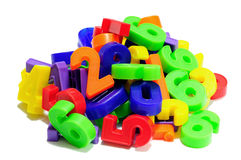 Colored numbers Royalty Free Stock Photo