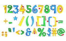 Colored numbers Stock Images
