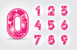 Colored numbers design Royalty Free Stock Image