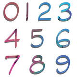 Colored numbers Stock Image
