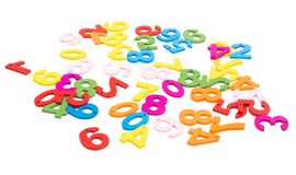 Colored numbers isolated. On white background royalty free stock image