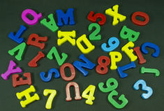 Colored numbers and letters Royalty Free Stock Photos