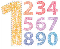 Colored numbers Stock Photos