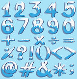 Colored numbers and symbols Royalty Free Stock Image