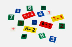 Colored numerals. On a white background isolated Stock Image
