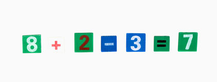Colored numerals. On a white background isolated Stock Photos
