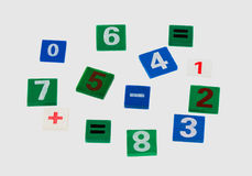 Colored numerals. On a white background isolated Stock Photo