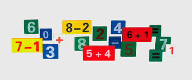 Colored numerals. On a white background isolated Stock Images