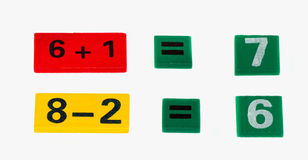 Colored numerals. On a white background isolated Royalty Free Stock Photography