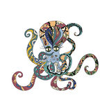 Colored Octopus Tattoo Stock Photography