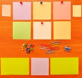 Colored office accessories Royalty Free Stock Images