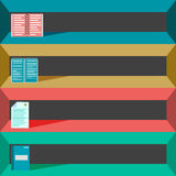 Colored office elements for your design Stock Photo