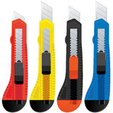 Colored Office Knifes Stock Image