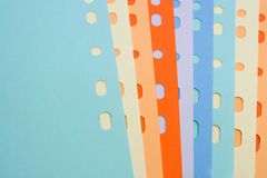Colored office paper Stock Photos