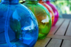 Colored Oil Lamp Stock Image