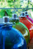 Colored Oil Lamps Royalty Free Stock Photos
