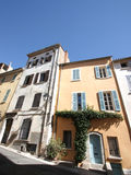 Colored old  houses of Hyeres Royalty Free Stock Photography