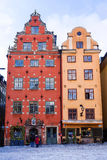 Colored old town houses, Stockholm, Sweden Stock Photos