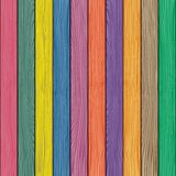 Colored Old Wooden Fence Background. Vector Royalty Free Stock Photos