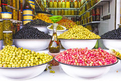 Colored Olives from Moroccan Market Royalty Free Stock Photo