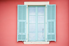 Colored Open Windows Royalty Free Stock Photos