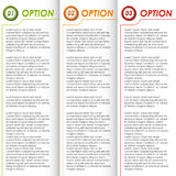 Colored options brochure background. Vector eps 10 Royalty Free Stock Photography