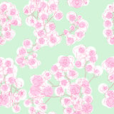 Colored orchids pattern stock illustration