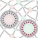 Colored ornaments - pattern. Colored flower ornaments - pattern seamless Stock Images