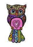 Colored owl Stock Image