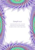Colored page border design template Royalty Free Stock Image