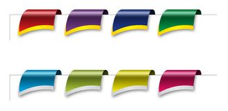 Colored Page Ribbon royalty free stock image