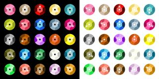 Colored Paillette Royalty Free Stock Photos