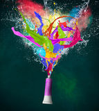 Colored paint, abstract shapes Royalty Free Stock Images