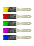 Colored paint brushes set Royalty Free Stock Image
