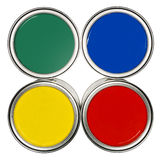 Colored Paint cans Royalty Free Stock Image