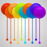 Colored paint drips. vector background Royalty Free Stock Images